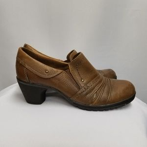 Earth Origins Maple Brown Tan Leather Booties 7
